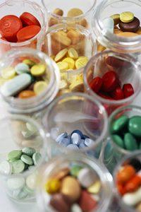 Variety of Medicine in Pill Bottles